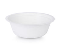 Paper bowl isolate on white Stock Photo