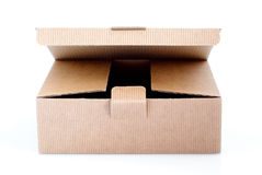 Paper box. Easy to isolate opened paper box Stock Photos