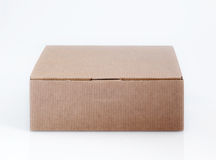 Paper box. Easy to isolate closed paper box Stock Image