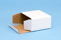 Paper  box on azure background Stock Photography