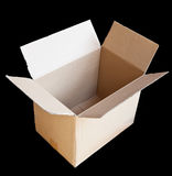 Paper box on black background Stock Image