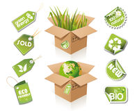 Paper box - eco idea Stock Photo