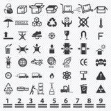 Paper box icons set Royalty Free Stock Photos