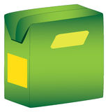 Paper box. Juice in green paper box Royalty Free Stock Images