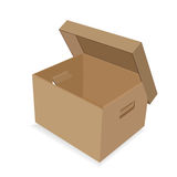 Paper box with a lid Stock Images