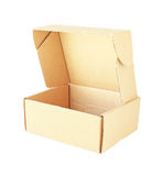 Paper Box Open Isometric View isolated on white background Stock Photography