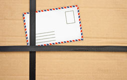 Paper box package with Old envelopes Royalty Free Stock Images