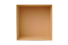 Paper box for packaging Royalty Free Stock Image