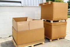 Paper box scrap Stock Image
