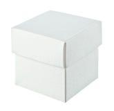 Paper box on white background. Close paper box on white background Stock Images