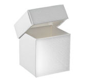 Paper box on white background. Open paper box on white background stock photo