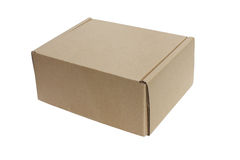 Paper Box. Paper Box On White Background Stock Photography
