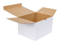 Paper box on white background Royalty Free Stock Photos