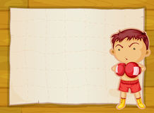Paper and boxer boy Stock Photography