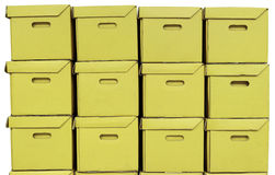 Paper boxes brown Stock Images