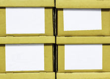 Paper boxes brown Royalty Free Stock Photos