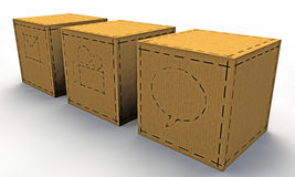 Paper boxes Royalty Free Stock Photo
