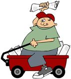 Paper boy Royalty Free Stock Images