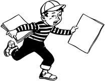 Paper Boy Stock Image