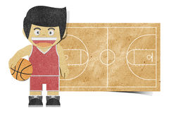Paper boy  ( basketball player ) recycled paper Royalty Free Stock Image