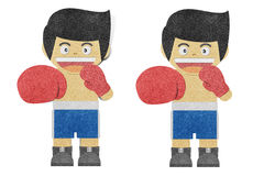 Paper boy ( Boxer ) recycled paper craft Royalty Free Stock Photography