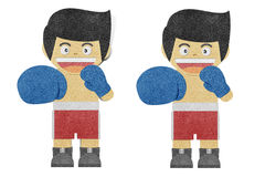 Paper boy ( Boxer ) recycled paper craft Royalty Free Stock Photos