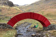 Paper Bridge art installation, Lake District Stock Images