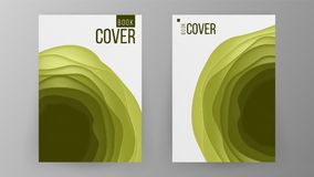 Paper Brochure Design Vector. Space For Photo Background. Modern Design Of Business Brochure. Ilustration Royalty Free Stock Image