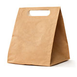 Paper brown bag. Paper brown lunch bag Royalty Free Stock Images