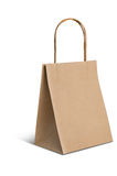 Paper brown bag on white background Stock Images