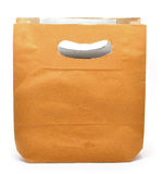 Paper brown bag Royalty Free Stock Photo