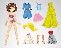 Paper Brown Short Hair Doll Stock Photography