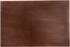 Paper, brown watercolor wash. A brown watercolor wash on thick-toothed paper Royalty Free Stock Photo