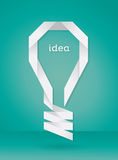 Paper Bulb Idea Stock Image