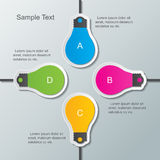Paper bulb infographic template Stock Image