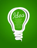 Paper bulb Royalty Free Stock Images