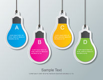 Paper Bulbs Royalty Free Stock Photos