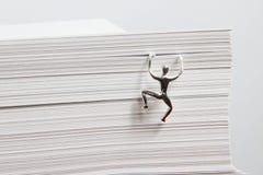 paper bunt för klättringman Arkivfoto