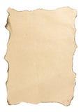 Paper is burnt. Around edge Stock Image