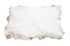 Paper with Burnt Edges. On White Background stock photos