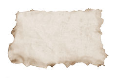 Paper with Burnt Edges. On White Background stock photo
