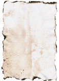 Paper with Burnt Edges royalty free stock photos