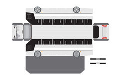 Paper bus outline for 3D Model Royalty Free Stock Photography