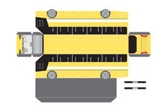 Paper bus outline for 3D Model Royalty Free Stock Photos
