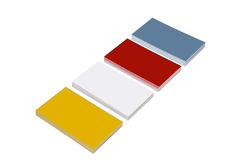 Paper for business cards. Colored paper for business cards. paper for notes, memos royalty free stock photo