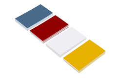 Paper for business cards. Colored paper for business cards. paper for notes, memos stock photos