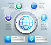 Paper business infographics design elements Stock Photo