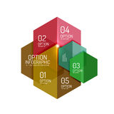 Paper business option button infographic templates Stock Photos