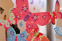 Paper butterflies Stock Photos