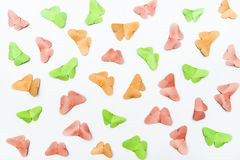Paper butterflies background Stock Images